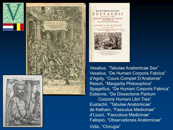 "Vesalius, ""Tabulae Anatomicae Sex"""