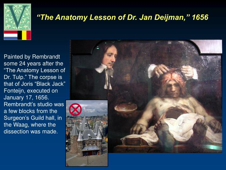 """The Anatomy Lesson of Dr. Jan Deijman,"" 1656"