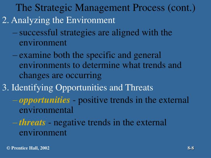 The Strategic Management Process (cont.)