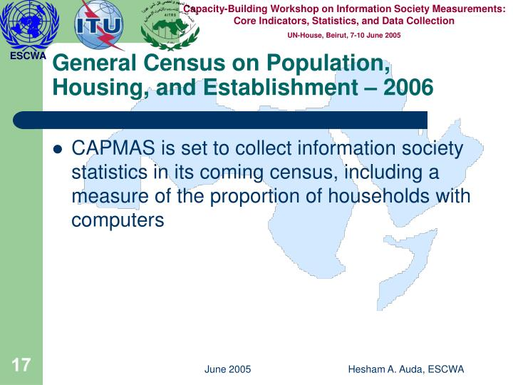 General Census on Population, Housing, and Establishment – 2006