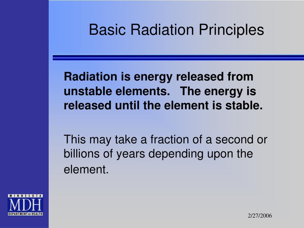 Basic Radiation Principles