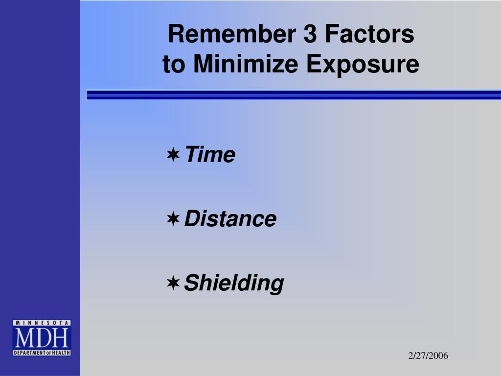 Remember 3 Factors