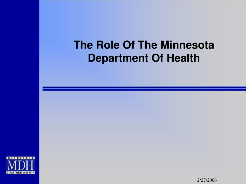 The Role Of The Minnesota Department Of Health