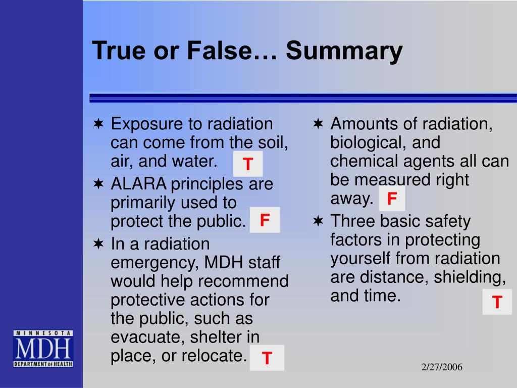 Exposure to radiation can come from the soil, air, and water.