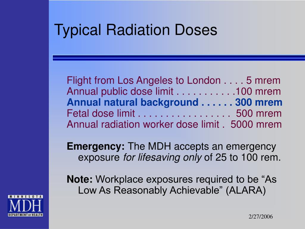 Typical Radiation Doses