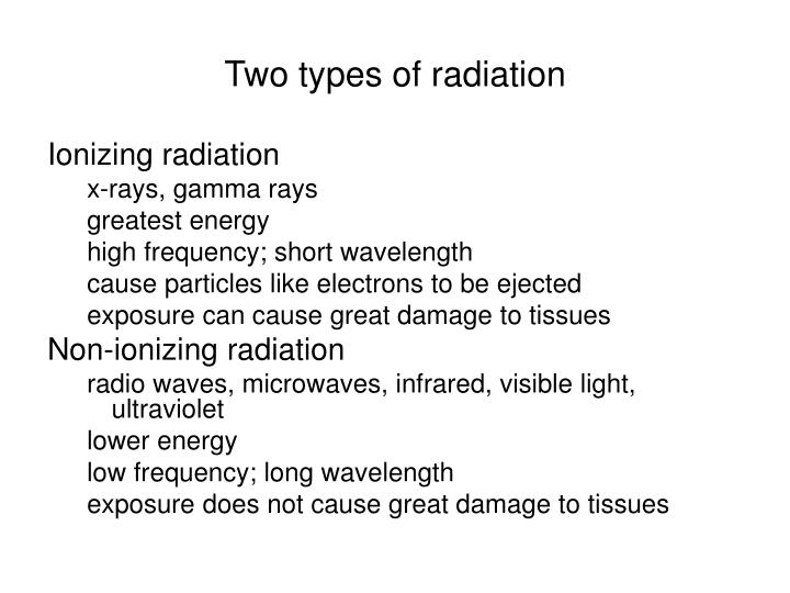 Two types of radiation
