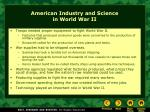 american industry and science in world war ii