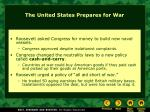 the united states prepares for war