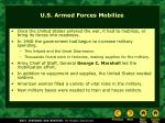 u s armed forces mobilize