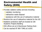 environmental health and safety ehs