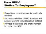 form nrc 3 notice to employees