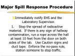 major spill response procedure73