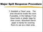 major spill response procedure79