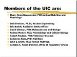 members of the uic are