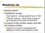 neutrons n