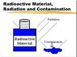 radioactive material radiation and contamination