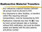 radioactive material transfers