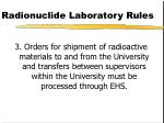 radionuclide laboratory rules87