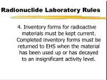 radionuclide laboratory rules88