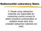 radionuclide laboratory rules89