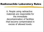radionuclide laboratory rules90
