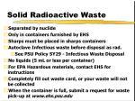 solid radioactive waste