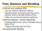 time distance and shielding