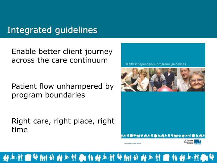 Integrated guidelines