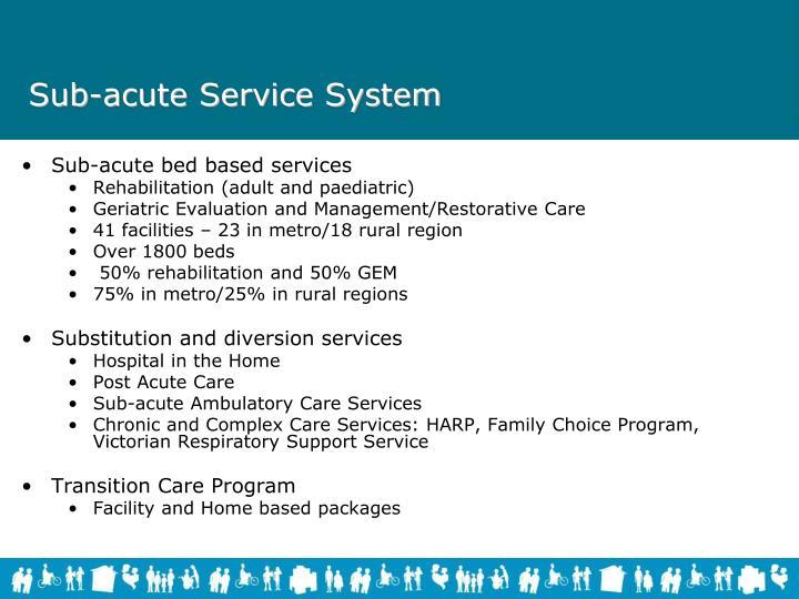 Sub-acute Service System