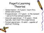 piaget s learning theories