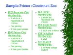 sample prices cincinnati zoo