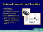 reducing exposure to house dust mites
