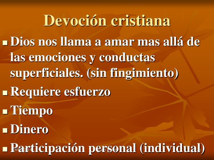 Devoción cristiana