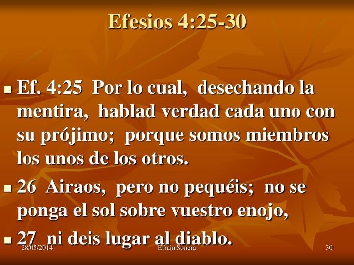 Efesios 4:25-30