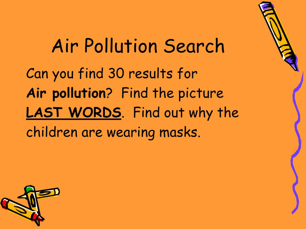 Air Pollution Search