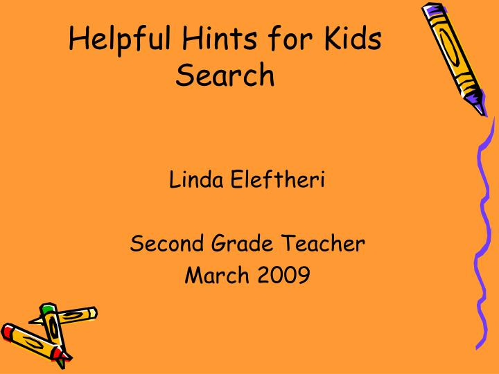 helpful hints for kids search n.
