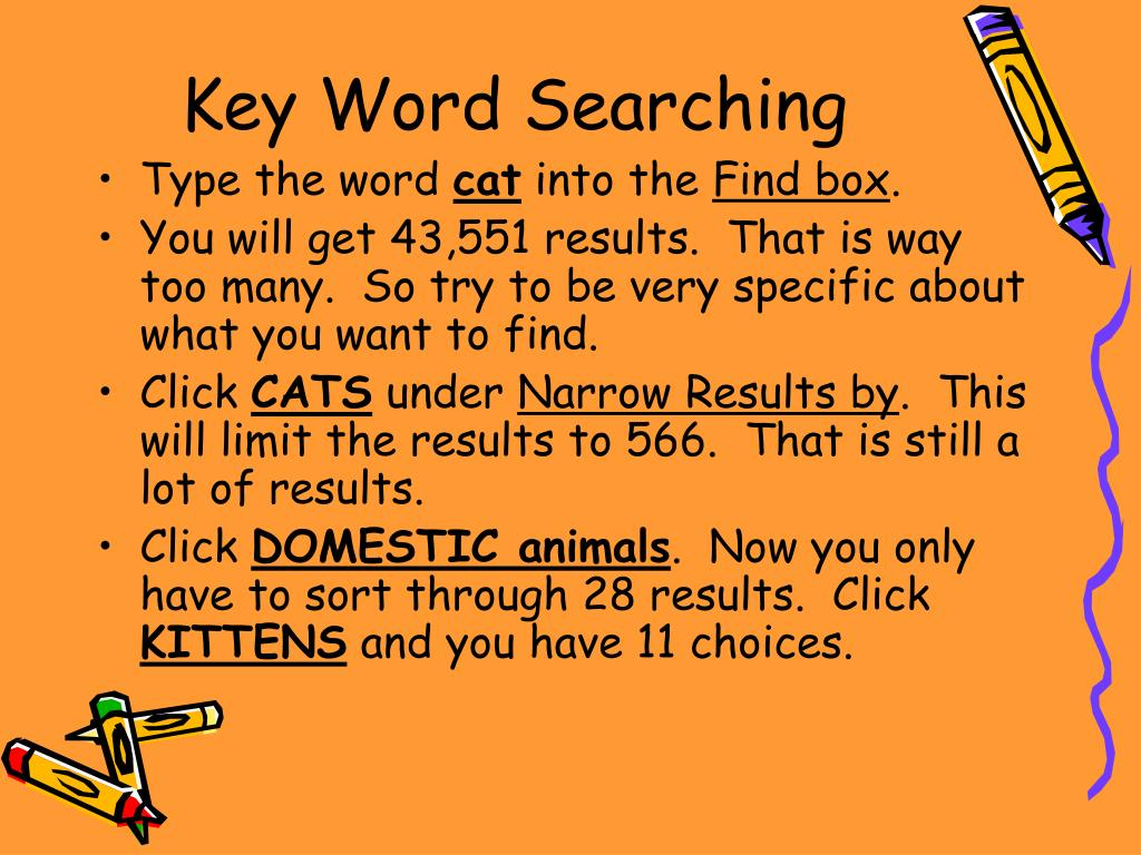 Key Word Searching