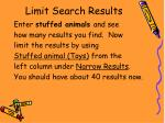 limit search results