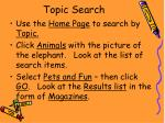 topic search