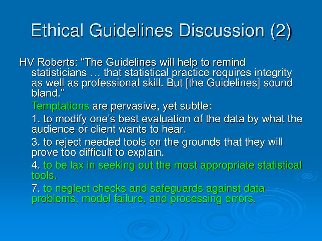 Ethical Guidelines Discussion (2)