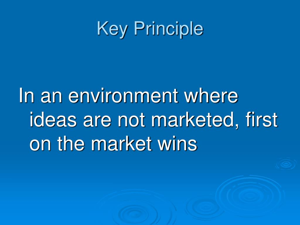 Key Principle