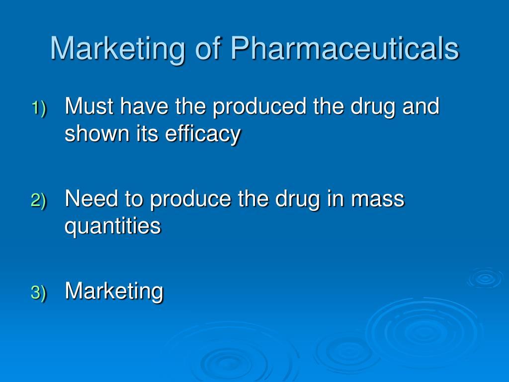 Marketing of Pharmaceuticals