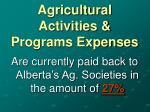 agricultural activities programs expenses31