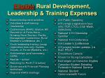 eligible rural development leadership training expenses
