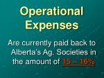 operational expenses25