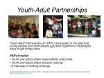 youth adult partnerships