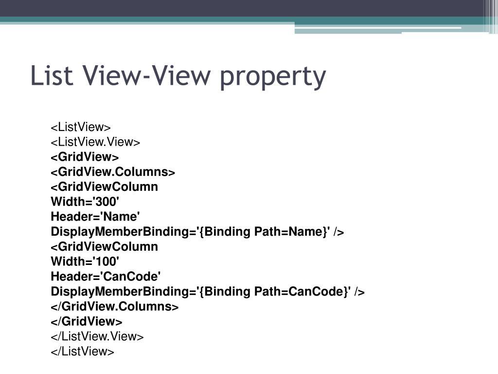 PPT - WPF - Controls PowerPoint Presentation - ID:835313