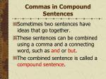 commas in compound sentences111
