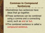 commas in compound sentences134