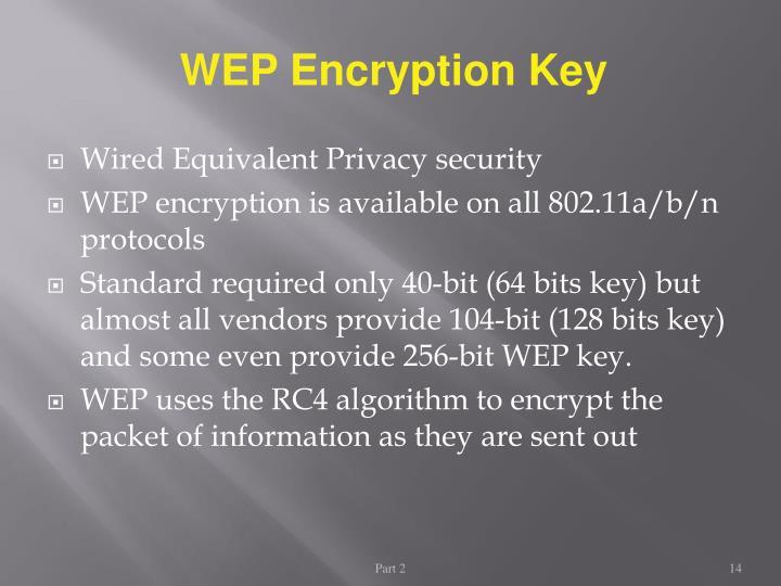 WEP Encryption Key